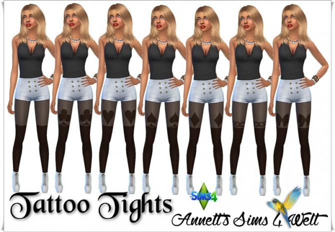 Tattoo Tights at Annett's Sims 4 Welt image 272 670x463 Sims 4 Updates