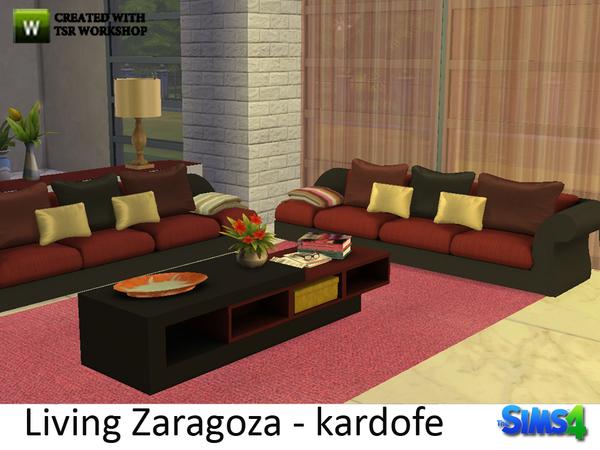 Sims 4 Living Zaragoza by kardofe at TSR