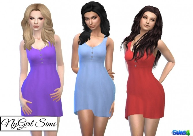 Buttoned Babydoll Dress at NyGirl Sims image 2727 670x473 Sims 4 Updates
