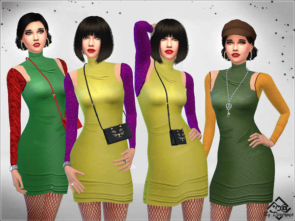 Sims 4 Bolero Dresses by Devirose at TSR