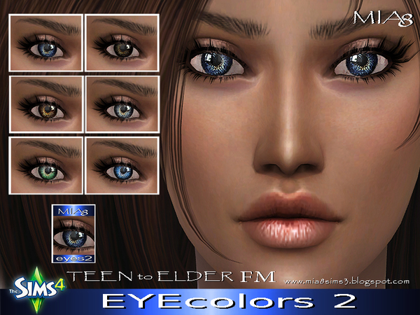 Sims 4 Eye colors 2 by Mia8 at TSR