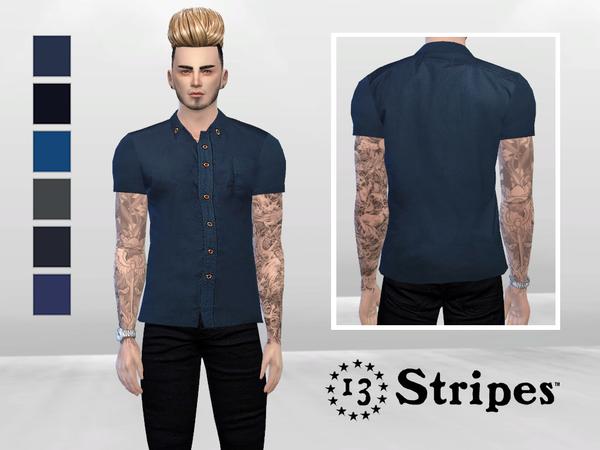 Ezra Basic Shirt by McLayneSims at TSR image 2838 Sims 4 Updates