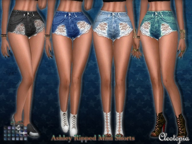 High Waisted Mini Shorts Ashley At Cleotopia 187 Sims 4 Updates