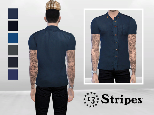 Ezra Basic Shirt by McLayneSims at TSR image 2935 Sims 4 Updates