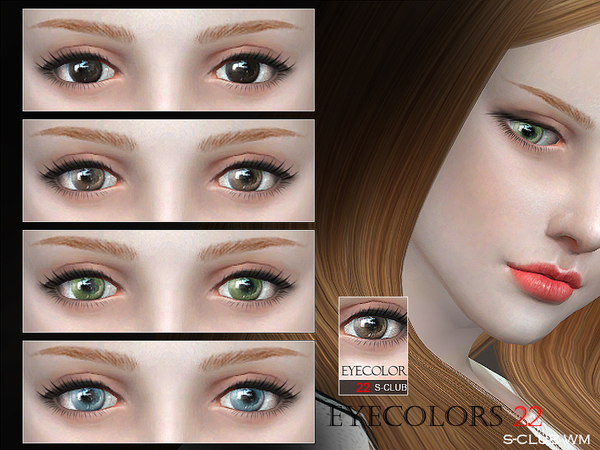 Sims 4 Eyecolor 22 by S Club WM at TSR