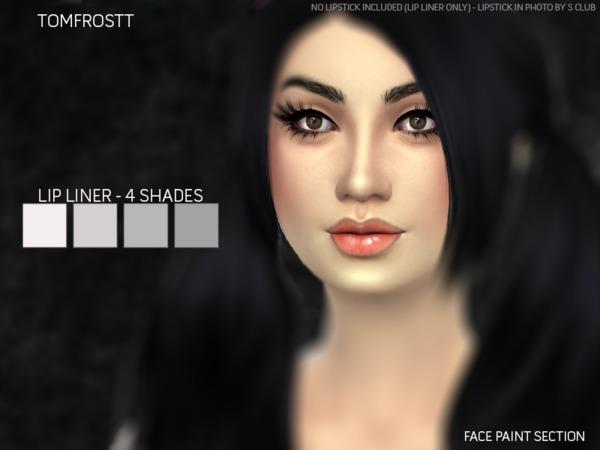 Sims 4 Lip Liner Set by tomfrostt at TSR