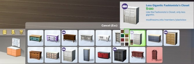 Sims 4 Less Gigantic Fashionista's Closet by plasticbox at Mod The Sims
