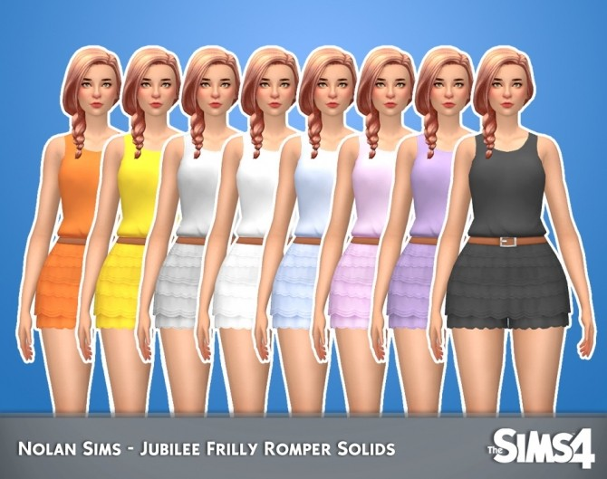 Jubilee Frilly Romper Solids 1.0 by Nolan Sims at SimsWorkshop image 3035 670x529 Sims 4 Updates