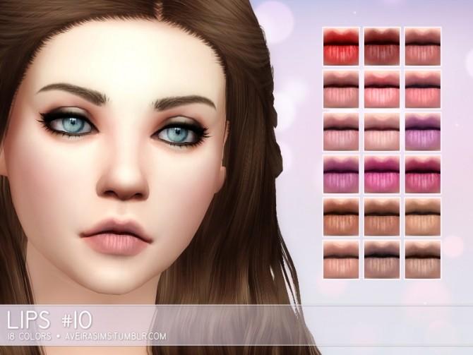 Sims 4 Lips #10 at Aveira Sims 4