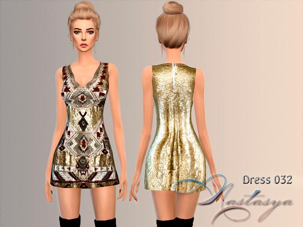 Sims 4 Embelished mini dress 032 by Nastasya at TSR