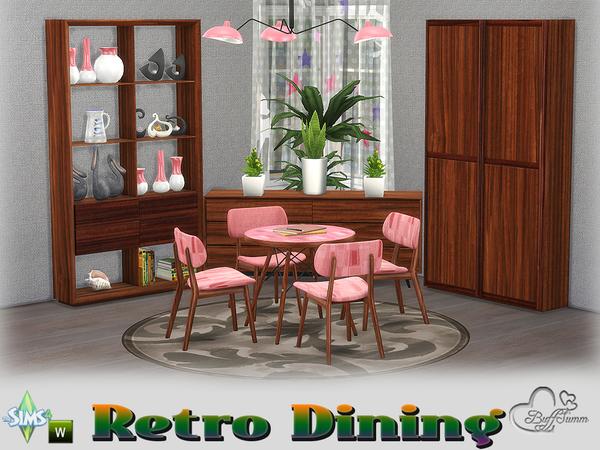 Sims 4 Retro Diningroom by BuffSumm at TSR