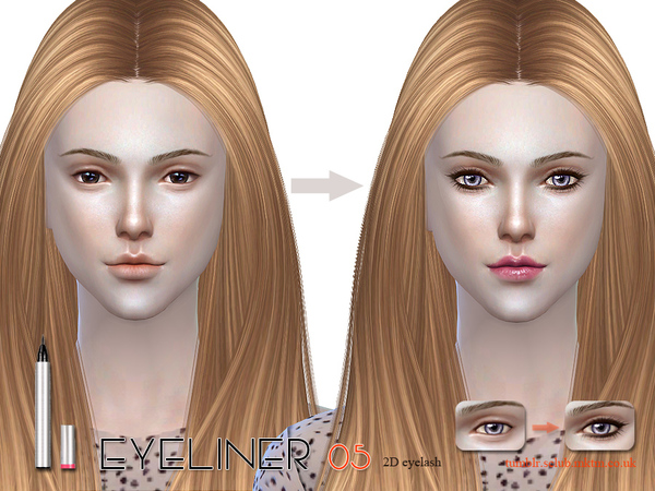 Sims 4 Eyeliner 05 by S Club LL at TSR