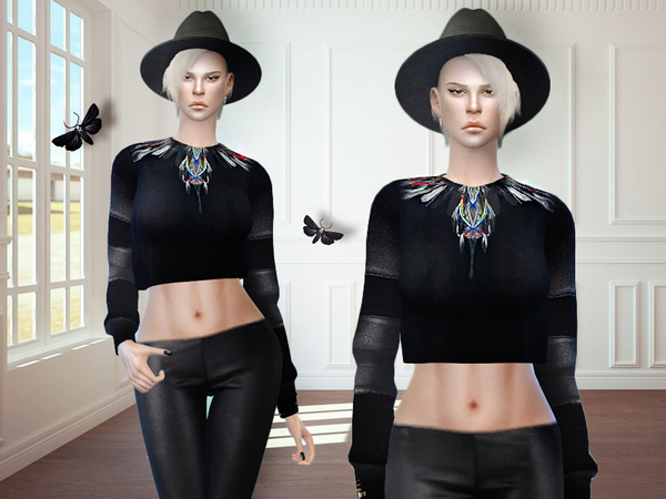 Sims 4 MFS Zoe Sweater by MissFortune at TSR