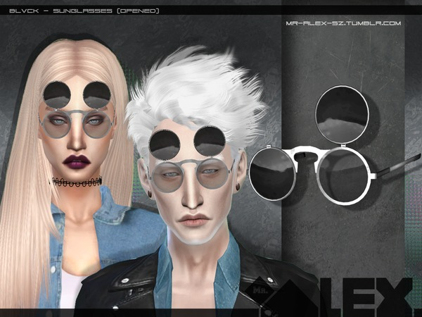 Blvck sunglasses (two versions) by Mr.Alex at TSR image 3139 Sims 4 Updates