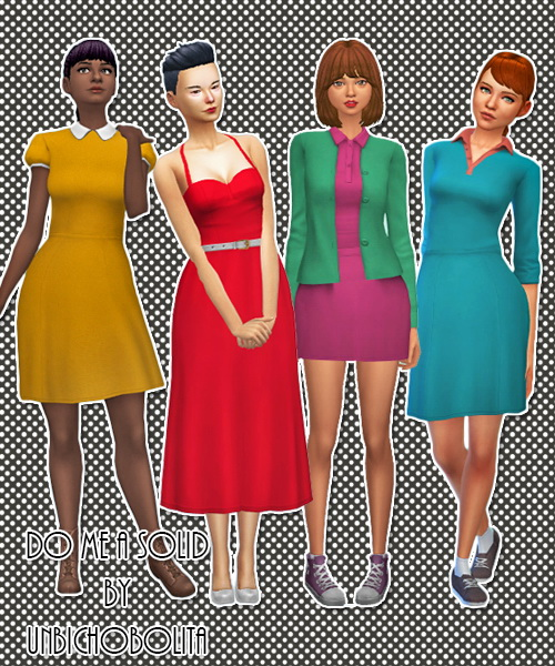 Sims 4 Solid colors clothing pack at Un bichobolita