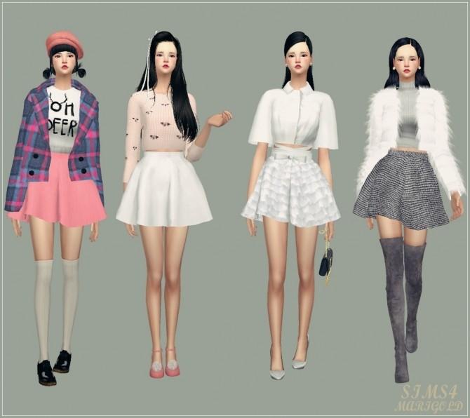 Sims 4 Flare skirt V1 Single color at Marigold