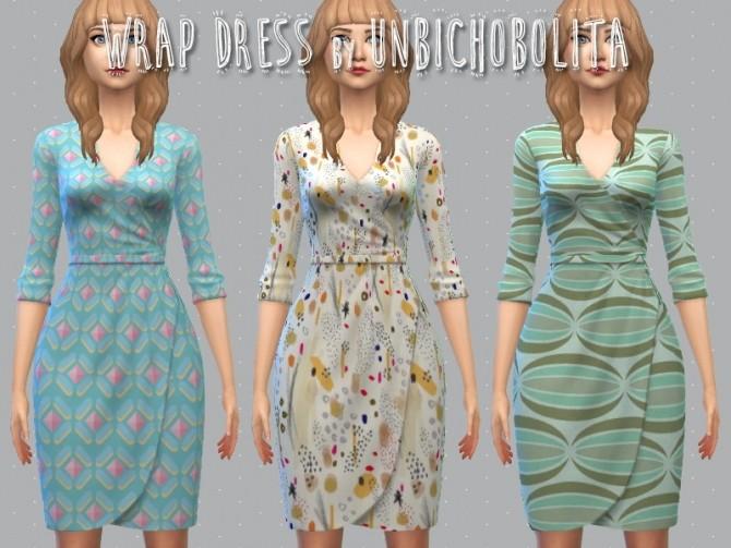 Sims 4 Wrap dress at Un bichobolita