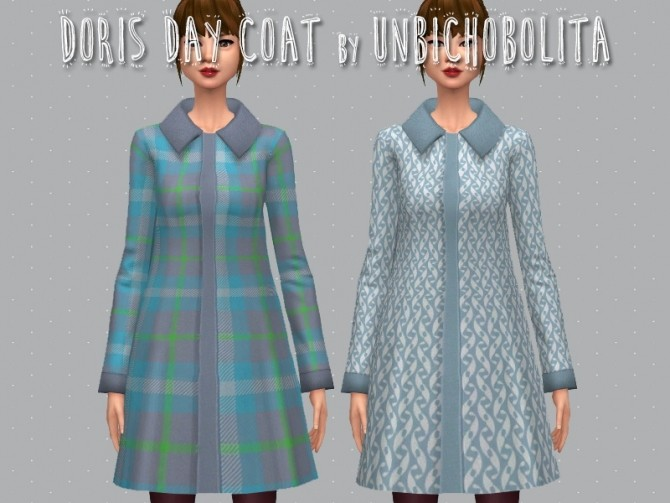 Sims 4 Doris day coat at Un bichobolita
