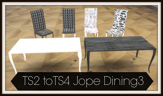 Sims 4 TS2 to TS4 Jope Dining3 at Dinha Gamer