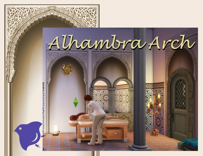 Alhambra Moorish Arch 2 colors by Velouriah at TSR image 3220 670x515 Sims 4 Updates