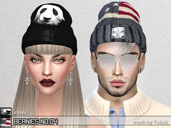 Sims 4 PZC Beanies 04 by Pinkzombiecupcakes at TSR