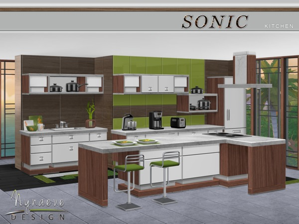 Sonic kitchen by nynaevedesign at tsr sims 4 updates for Sims 4 kitchen designs