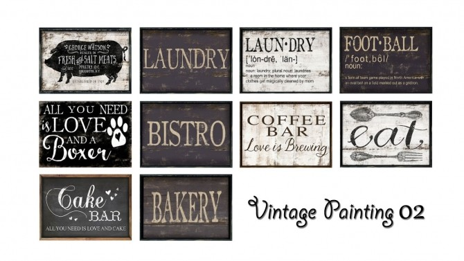 Vintage Paintings Amp Signs At Ruby S Home Design 187 Sims