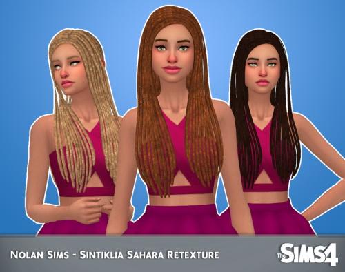 Sims 4 Sintiklias Sahara hair retexture at Nolan Sims