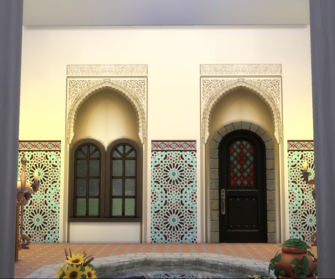 Alhambra Moorish Arch 2 colors by Velouriah at TSR image 3322 670x558 Sims 4 Updates