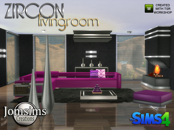 Zircon Modern Living Room by jomsims at TSR image 3328 Sims 4 Updates