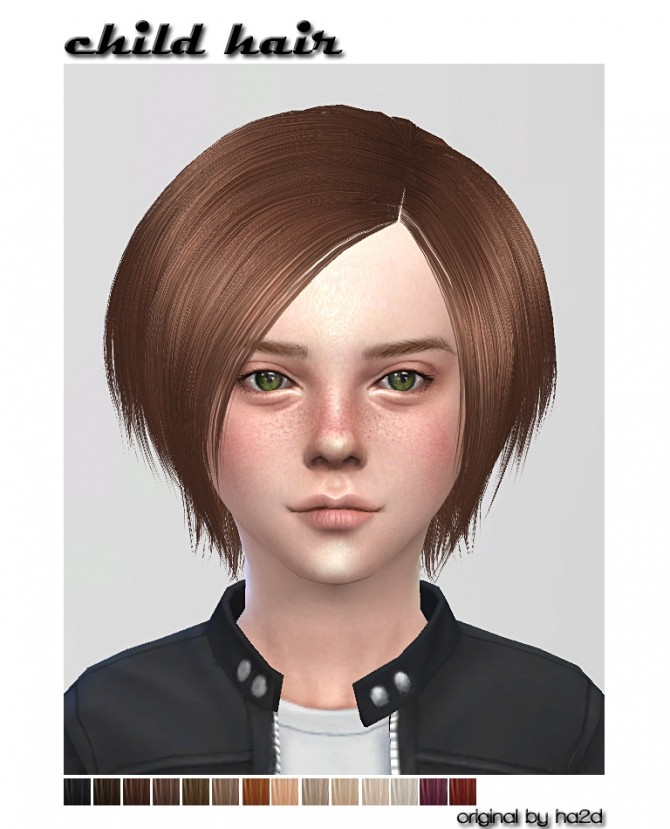 HA2D's hair converted for child at ShojoAngel image 3341 670x829 Sims 4 Updates