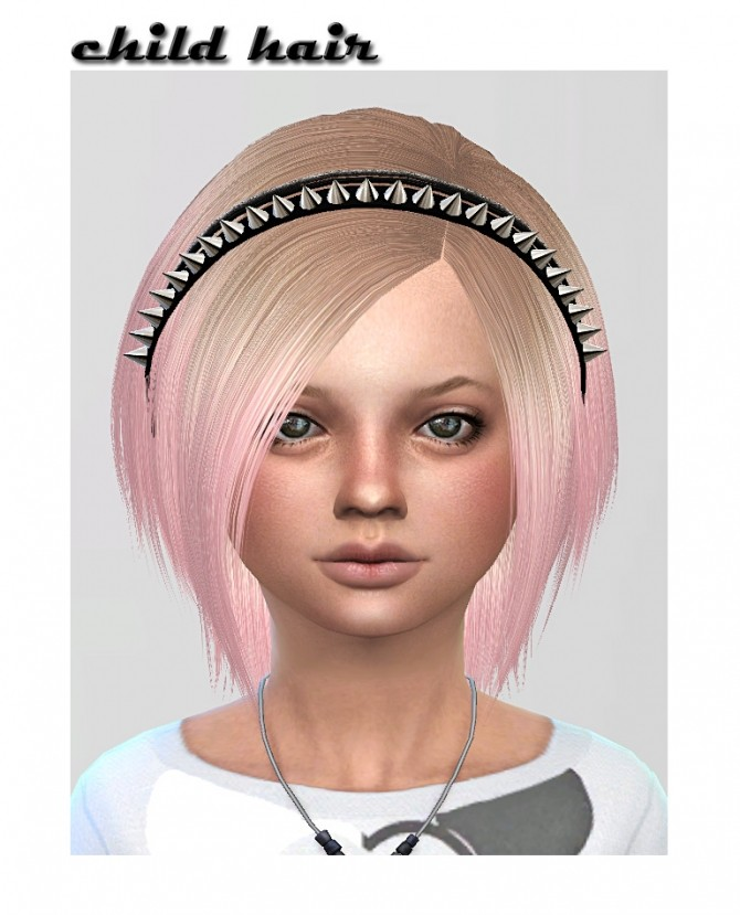 HA2D's hair converted for child at ShojoAngel image 3351 670x829 Sims 4 Updates
