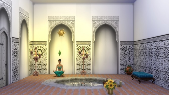 Alhambra Moorish Arch 2 colors by Velouriah at TSR image 3424 670x377 Sims 4 Updates
