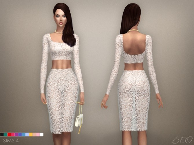LACE MIDI DRESS 03 at BEO Creations image 3428 670x503 Sims 4 Updates