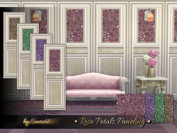 Sims 4 Rose Petals Paneling by emerald at TSR