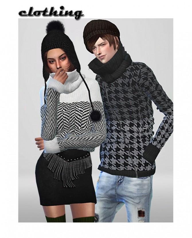 2 sweaters at ShojoAngel image 3441 670x829 Sims 4 Updates