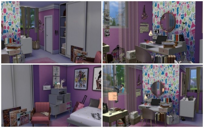 Girl Bedroom at Dinha Gamer image 3512 670x423 Sims 4 Updates