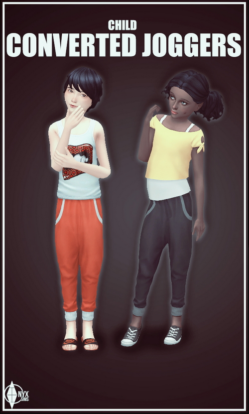 Sims 4 GT Joggers Conversion at Onyx Sims