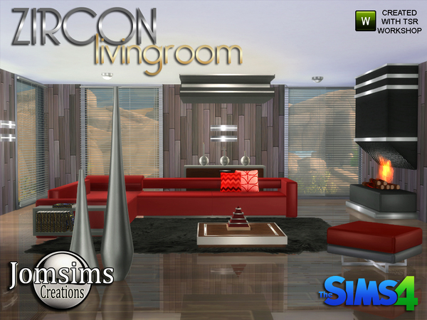 Zircon Modern Living Room by jomsims at TSR image 3527 Sims 4 Updates