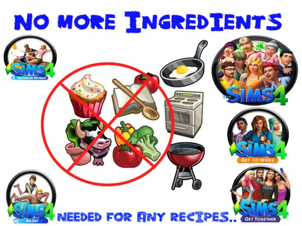 No Ingredients required by mummy1969 at TSR image 3611 Sims 4 Updates