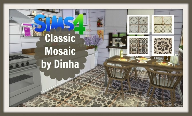 Classic Mosaic 101 at Dinha Gamer image 3712 670x404 Sims 4 Updates