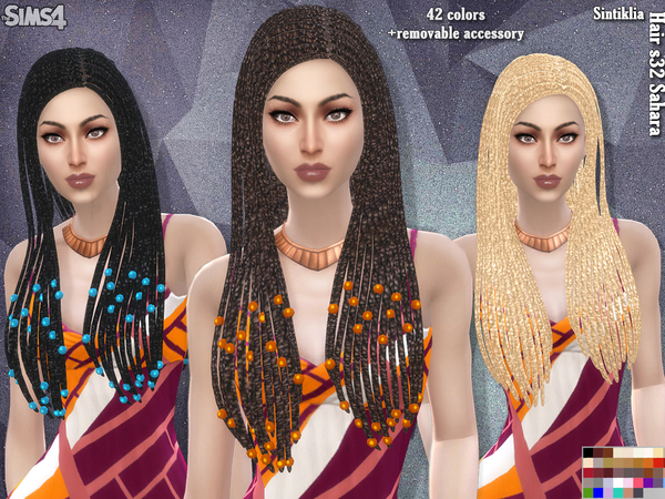 Sims 4 Sahara hair s32 by Sintiklia at TSR