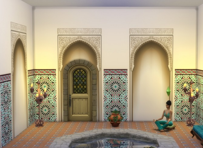 Alhambra Moorish Arch 2 colors by Velouriah at TSR image 3720 670x491 Sims 4 Updates