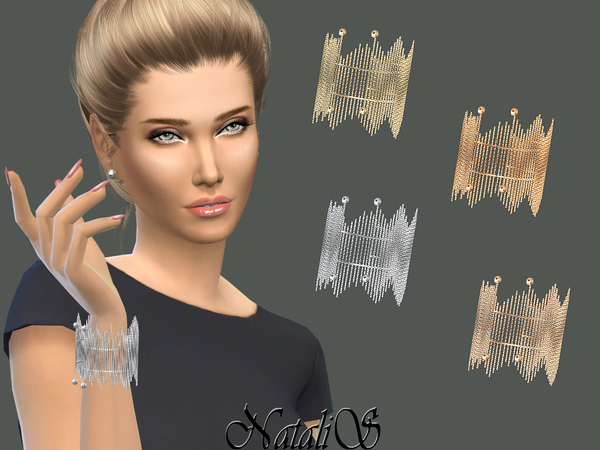 Sims 4 Chain Fringe Bracelet by NataliS at TSR
