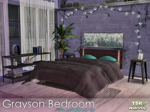 Sims 4 Grayson Bedroom by sim man123 at TSR