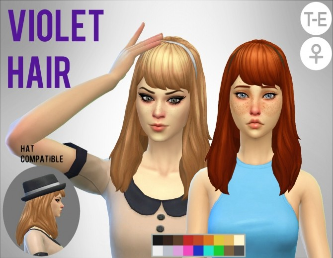 Sims 4 Violet Hair at Simduction
