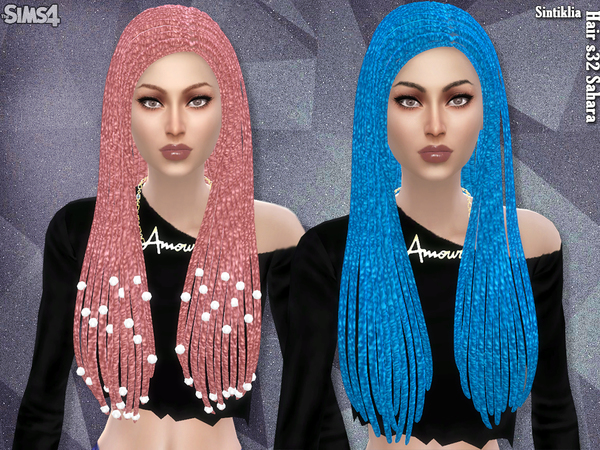 Sahara hair s32 by Sintiklia at TSR image 3916 Sims 4 Updates