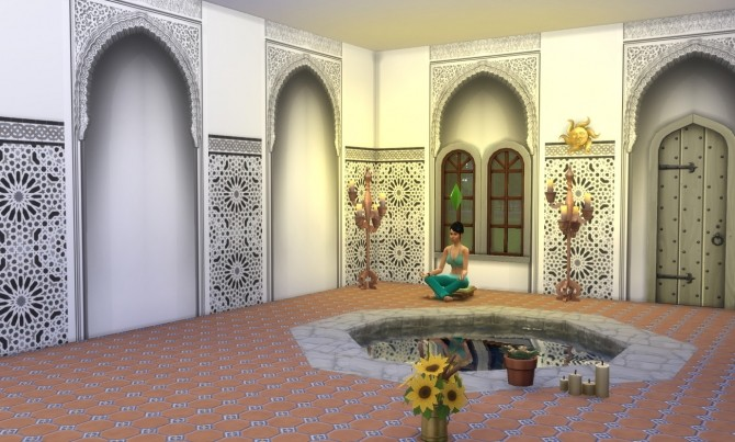 Alhambra Moorish Arch 2 colors by Velouriah at TSR image 3921 670x403 Sims 4 Updates