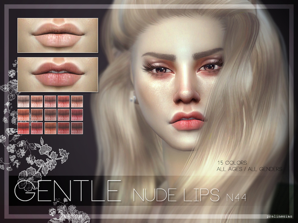 GENTLE Lips N44 by Pralinesims at TSR image 40 Sims 4 Updates