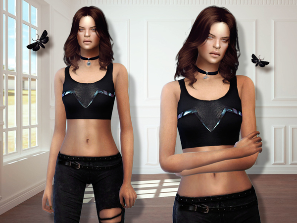 Sims 4 MFS Alyssa Top by MissFortune at TSR